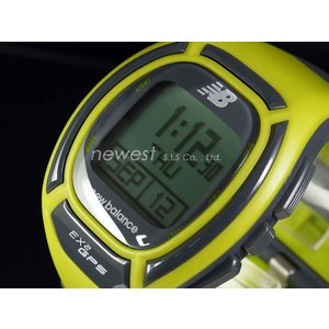 正規品 New Balance ニューバランス ランニングウォッチ GPS機能搭載 for windows EX2-906-002 イエロー×グレー メンズ 腕時計|newest