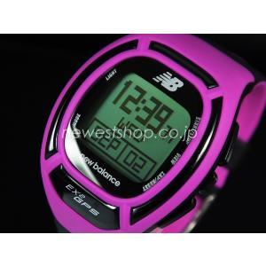 正規品 New Balance ニューバランス ランニングウォッチ GPS機能搭載 for windows EX2-906-101 ピンク×ブラック メンズ 腕時計|newest