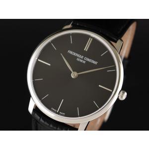 FREDERIQUE CONSTANT フレデリック・コンスタント SLIMLINE GENTS スリムライン ジェンツ ブラック FC-200G5S36 メンズ 腕時計 即納|newest
