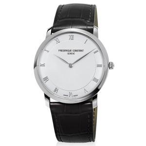 FREDERIQUE CONSTANT フレデリック・コンスタント SLIMLINE GENTS スリムライン ジェンツ シルバー×ブラック FC-200RS5S36 メンズ 腕時計 即納|newest