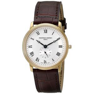 FREDERIQUE CONSTANT フレデリック・コンスタント SLIMLINE GENTS スリムライン ジェンツ シルバー×ブラウン FC-235M4S5 メンズ 腕時計 即納|newest