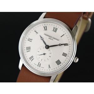 FREDERIQUE CONSTANT フレデリク・コンスタント SLIMLINE GENTS スリムライン ジェンツ シルバー×braun FC-235M4S6-BROWN メンズ 腕時計 即納|newest