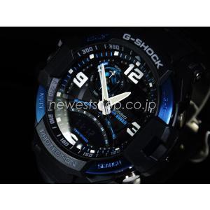 CASIO カシオ G-SHOCK G-ショック SKY COCKPIT スカイコックピット GA-1000-2B ブラック×ブルー 海外モデル 腕時計 即納