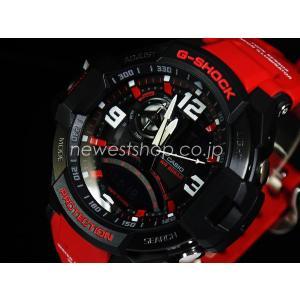 CASIO カシオ G-SHOCK G-ショック SKY COCKPIT スカイコックピット GA-1000-4B ブラック×レッド 海外モデル 腕時計 即納