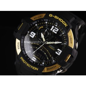 CASIO カシオ G-SHOCK G-ショック SKY COCKPIT スカイコックピット GA-1000-9G ブラック×ゴールド 海外モデル 腕時計 即納|newest