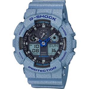 CASIO カシオ G-SHOCK ジーショック DENIM'D COLOR デニムドカラー GA-100DE-2A ブラック×ライトブルー 腕時計 即納 newest