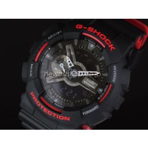 CASIO カシオ G-SHOCK ジーショック Black & Red Series ブラック&レッドシリーズ GA-110HR-1A ブラック×レッド 海外モデル 腕時計 即納|newest