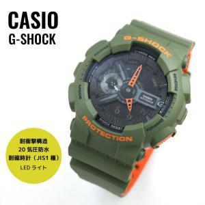CASIO カシオ G-SHOCK ジーショック Layered Neon Color レイヤード・ネオンカラー GA-110LN-3A ブラック×カーキ 腕時計 メンズ 即納 newest