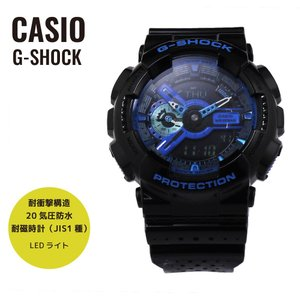 CASIO カシオ G-SHOCK G-ショック Punching Pattern Series パンチング・パターン・シリーズ GA-110LPA-1A ブラック×ブルー 腕時計 海外モデル メンズ|newest