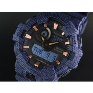 CASIO カシオ G-SHOCK G-ショック GA-700DE-2A DENIM'D COLOR デニムドカラー ネイビー 腕時計 海外モデル メンズ 即納|newest