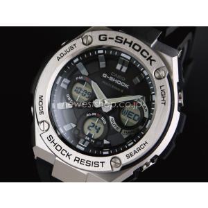 CASIO カシオ G-SHOCK G-ショック G-STEEL Gスチール GST-W110-1A ブラック×シルバー 腕時計 海外モデル メンズ 即納|newest