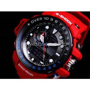 CASIO カシオ G-SHOCK Gショック GULFMASTER ガルフマスター マスターオブG レスキューレッド GWN-1000RD-4A ブラック×レッド 海外モデル メンズ 腕時計 即納