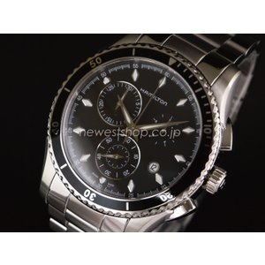 HAMILTON ハミルトン JAZZMASTER SEAVIEW CHRONO QUARTZ ジャズマスター シービュークロノクォーツ H37512131 ブラック×シルバー 腕時計 メンズ