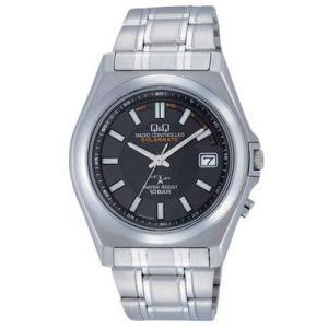 CITIZEN シチズン 腕時計 Q&Q アナログ HG08-202 ブラック×メタル 電波時計 送料無料|newest