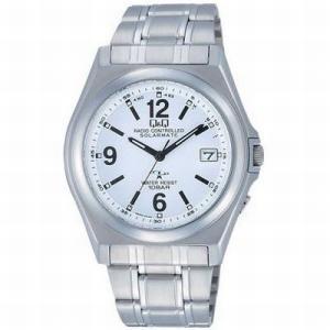 CITIZEN シチズン 腕時計 Q&Qアナログ HG08-204 ホワイト×メタル 電波時計 送料無料|newest