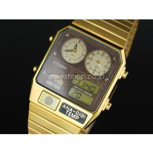 CITIZEN シチズン ANA-DIGI TEMP アナデジテンプ JG2002-53W ゴールド 腕時計 ユニセックス 即納|newest