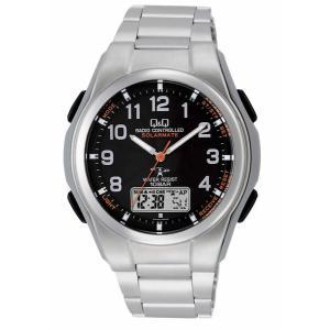 CITIZEN シチズン Q&Q コンビネーション SOLARMATE ソーラー電源 MD02-205 ブラック×シルバー 腕時計 送料無料 即納|newest