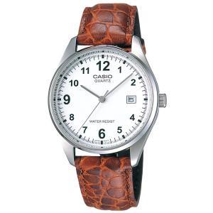 正規品 CASIO カシオ BASIC ベーシック MTP-1175E-7BJF ホワイト×ブラウン メンズ 海外モデル 腕時計