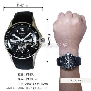 POLICE ポリス PL.11596JS/02 ブラック 腕時計|newest|02