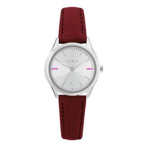 FURLA フルラ EVA 25mm エヴァ R4251101507 シルバー×レッド 腕時計 レディース|newest