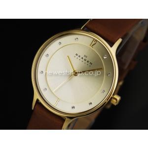 SKAGEN スカーゲン Anita アニタ SKW2147 シャンパンゴールド×ブラウン 腕時計 即納