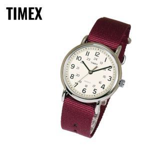 TIMEX タイメックス WEEKENDER Slip Thru ウィークエンダー スリップスルー フルサイズ T2P235 アイボリー×ボルドー 腕時計 レビューを書いて送料無料 即納|newest