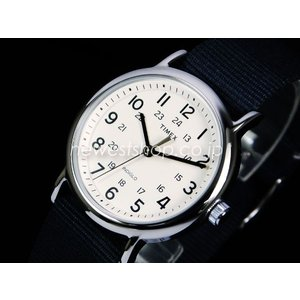 TIMEX タイメックス WEEKENDER ウィークエンダー フルサイズ T2P467 クリーム×グレー 腕時計|newest