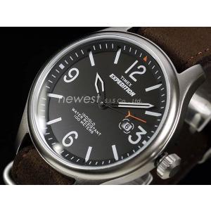 TIMEX タイメックス 腕時計 EXPEDITION MILITARY FIELD  エクスペディション ミリタリーフィールド T49935 ブラック×ブラウン レビューを書いて送料無料 即納 newest