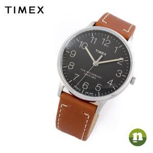 TIMEX タイメックス Waterbury ウォーターベリー TW2P95800 ブラック×ブラウン 腕時計 ユニセックス 即納