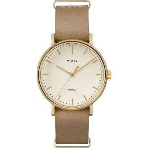 TIMEX タイメックス Weekender Fairfield ウィークエンダー フェアフィールド TW2P98400 クリーム×ベージュ 腕時計 レディース 送料無料 即納|newest
