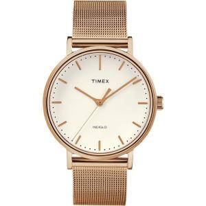 TIMEX タイメックス Weekender Fairfield ウィークエンダー フェアフィールド TW2R26400 アイボリー×ローズゴールド 腕時計 即納|newest