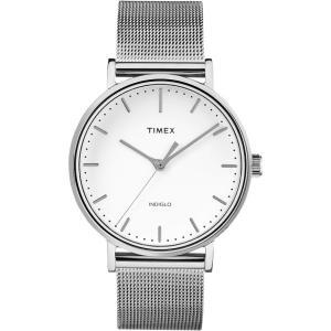 TIMEX タイメックス Weekender Fairfield ウィークエンダー フェアフィールド TW2R26600 ホワイト×シルバー 腕時計 即納|newest