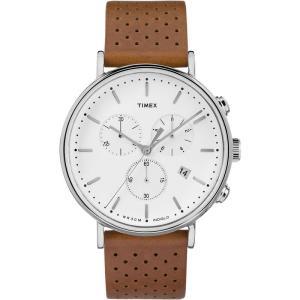 TIMEX タイメックス Fairfield フェアフィールド TW2R26700 ホワイト×タン 腕時計 ユニセックス 即納|newest