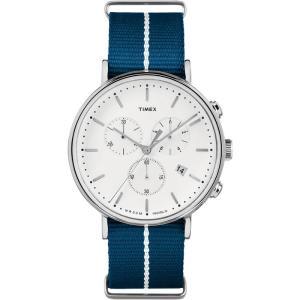 TIMEX タイメックス Fairfield フェアフィールド TW2R27000 ホワイト×ネイビー 腕時計 ユニセックス 即納|newest