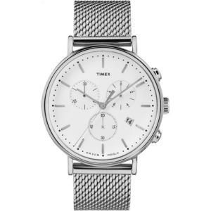 TIMEX タイメックス Fairfield フェアフィールド TW2R27100 ホワイト×シルバー 腕時計 ユニセックス 即納|newest