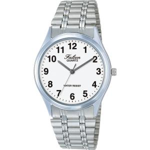 正規品 CITIZEN シチズン Q&Q FALCON ファルコン VA82-854 VA83-854 ホワイト×シルバー 腕時計 メンズ レディース メール便に限り送料無料 即納|newest