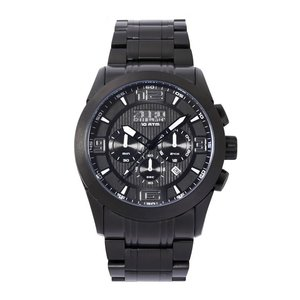 ZERO HALLIBURTON ゼロハリバートン ROUND CHRONOGRAPH ラウンド クロノグラフ ZW001B-02 ブラック 腕時計 メンズ