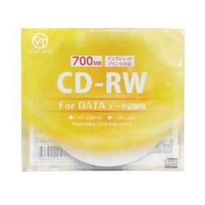 ☆VERTEX CD-RW(Data) 繰り返し記録用 700MB 1-4倍速 1P インクジェットプリンタ対応(ホワイト) 1CDRWD.700MBCA|newfrontier