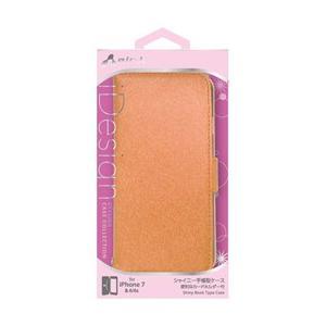 ☆エアージェイ iPhone7(シャイニー薄型手帳)オレンジ AC-P7-SHYOR newfrontier