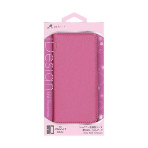 ☆エアージェイ iPhone7(シャイニー薄型手帳)ローズピンク AC-P7-SHYRP newfrontier