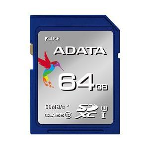 <欠品 未定>☆ADATA Premier SDHCカード 64GB Class10 UHS-I ASDX64GUICL10-R|newfrontier