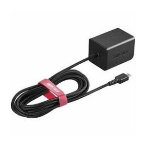 ☆BUFFALO バッファロー BSMPA2401BC1BK 2.4A出力 AC-USB急速充電器 microUSB急速ケーブル一体型タイプ 1.8m ブラック|newfrontier