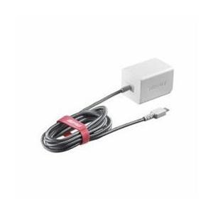 ☆BUFFALO バッファロー BSMPA2401BC1TWH 2.4A出力 AC-USB急速充電器 microUSB急速ケーブル一体型タイプ 1.8m ホワイト|newfrontier