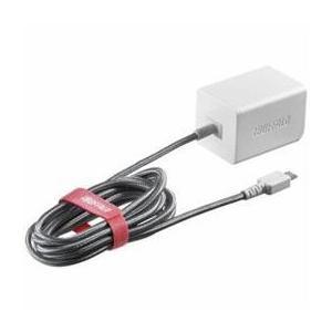 ☆BUFFALO バッファロー BSMPA2401BC1WH 2.4A出力 AC-USB急速充電器 microUSB急速ケーブル一体型タイプ 1.8m ホワイト|newfrontier