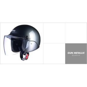LEAD リード工業 apiss AP-603 セミジェットヘルメット ガンメタ|newfrontier