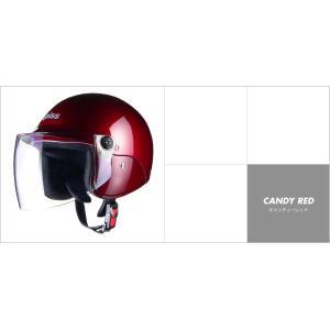 LEAD リード工業 apiss AP-603 セミジェットヘルメット キャンディーレッド|newfrontier