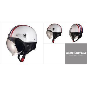 LEAD リード工業 CROSS CR-760 ハーフヘルメット ホワイト×レッド/ブルー|newfrontier
