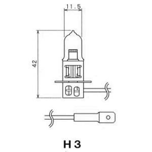 扶桑電機工業(フォーカス) 自動車用電球 ハロゲンバルブ 【H3】 【24V55W】 【ガラス球:T11.5/口金:PK22s】 紙箱1個入り [F34T-B] newfrontier
