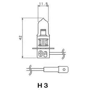 【1ケース/10個入り特価】 扶桑電機工業(フォーカス) 自動車用電球 ハロゲンバルブ 【H3】 【24V55W】 【ガラス球:T newfrontier
