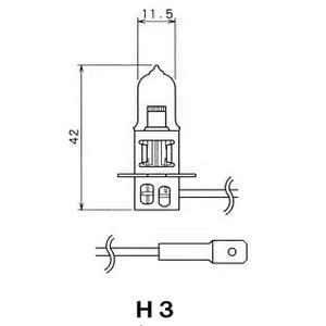 扶桑電機工業(フォーカス) 自動車用電球 ハロゲンバルブ 【H3】 【24V70W】 【ガラス球:T11.5/口金:PK22s】 紙箱1個入り [F35T-B] newfrontier